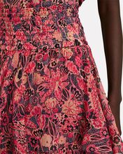 Vera Ruffled Floral Mini Skirt, BLACK/PINK, hi-res