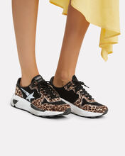 Leopard White Star Running Sneakers, MULTI, hi-res