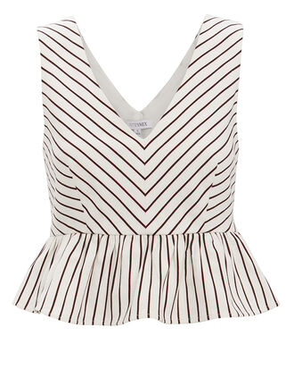 Lenny Striped Peplum Top, MULTI, hi-res