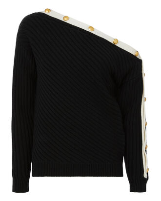 Crosby Off Shoulder Sweater, BLACK, hi-res