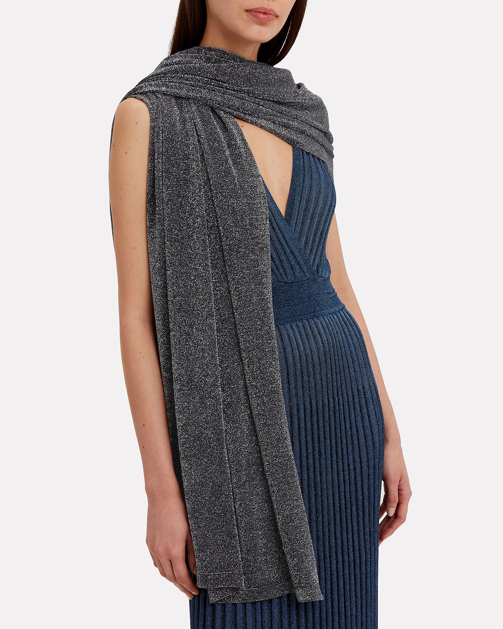 Lurex Wrap, GUNMETAL, hi-res