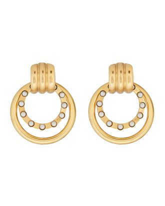Sadie Doorknocker Earrings, GOLD, hi-res