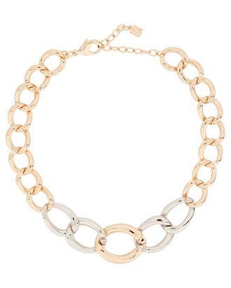 Mulholland Chain Link Necklace, GOLD/SILVER, hi-res
