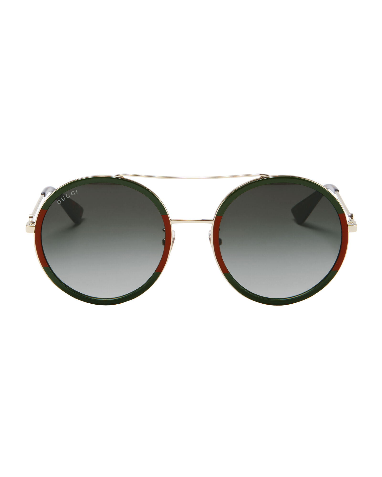 6fe029df3f6d Colorblock Round Aviator Sunglasses, GREEN/RED/GOLD, ...