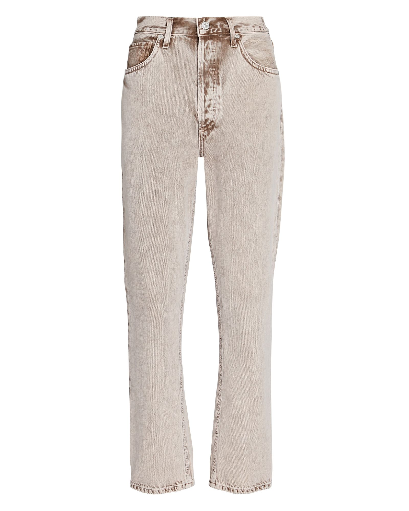 Jolene High-Rise Straight Cropped Jeans, BUFF, hi-res