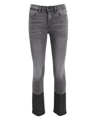 Le High Straight Coated Hem Jeans, CHARCOAL DENIM, hi-res
