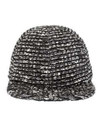 Darien Tweed Baseball Cap, BLK/WHT, hi-res