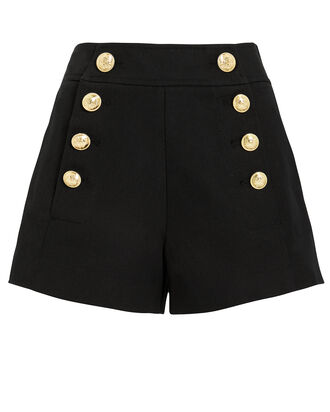 Tailored Cotton Sailor Shorts, BLACK, hi-res