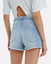 Le Cut-Off Denim Shorts, DENIM, hi-res