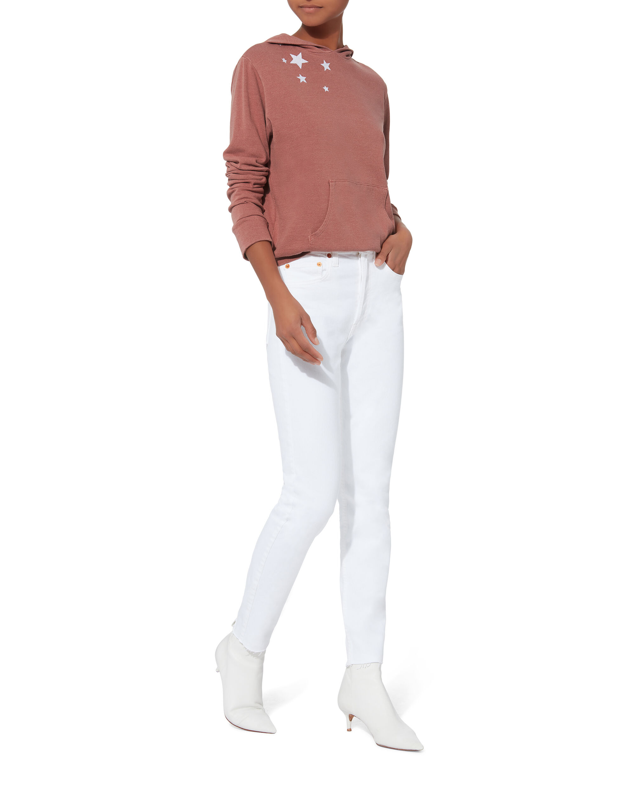 High-Rise Ankle Crop White Jeans, WHITE, hi-res