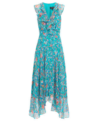 Rita Floral Midi Dress, MULTI, hi-res
