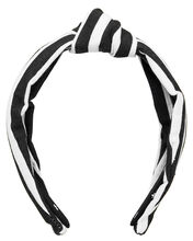Striped Knotted Headband, WHITE/BLACK, hi-res