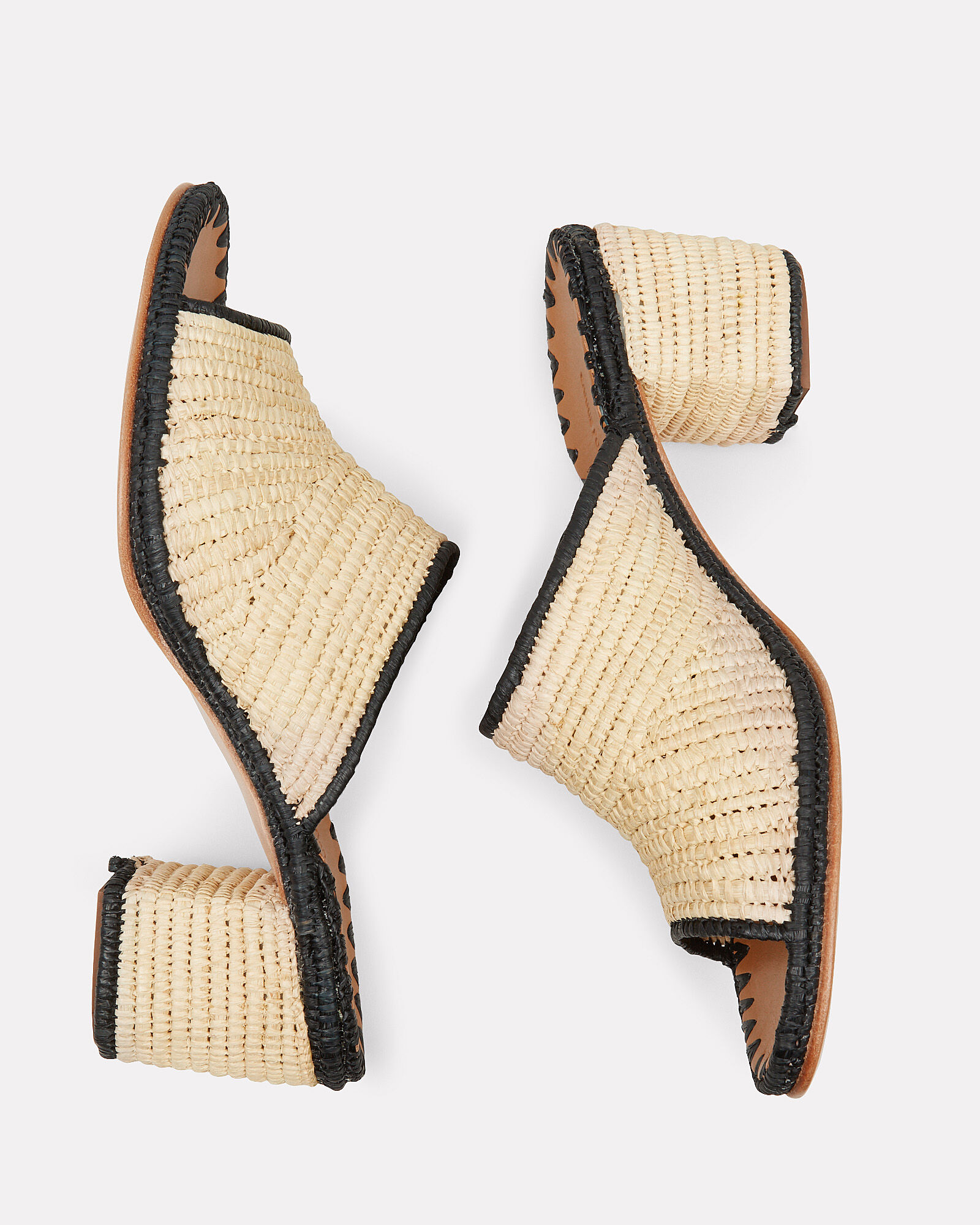 Rama Heeled Raffia Sandals, BEIGE, hi-res
