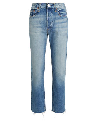 Constance Tapered High-Rise Jeans, FADED INDIGO DENIM, hi-res