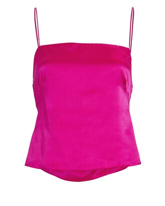 Susa Open Back Satin Tank Top, PINK, hi-res