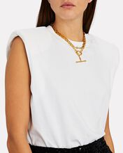 T-Link Chain-Link Necklace, GOLD, hi-res