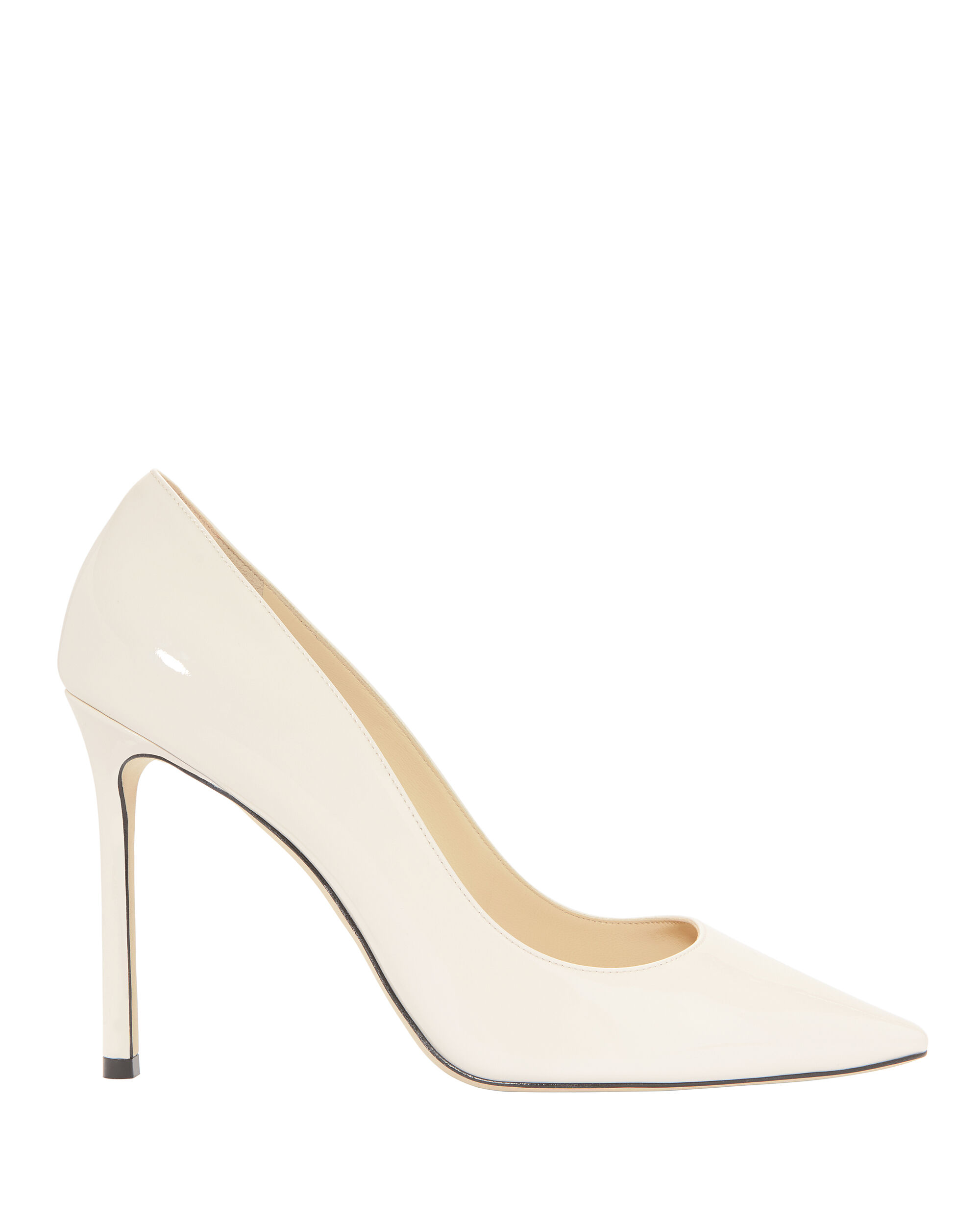 Romy White Patent Leather Pumps, WHITE, hi-res