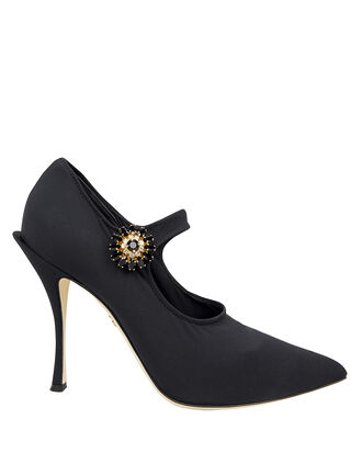 Mary Jane Stretch Jersey Pumps, BLACK, hi-res