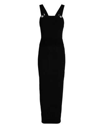 Rib Knit Maxi Dress, BLACK, hi-res