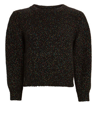 Allie Puff Sleeve Sweater, BLACK, hi-res