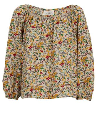 The Canopy Floral Blouse, NAVY, hi-res