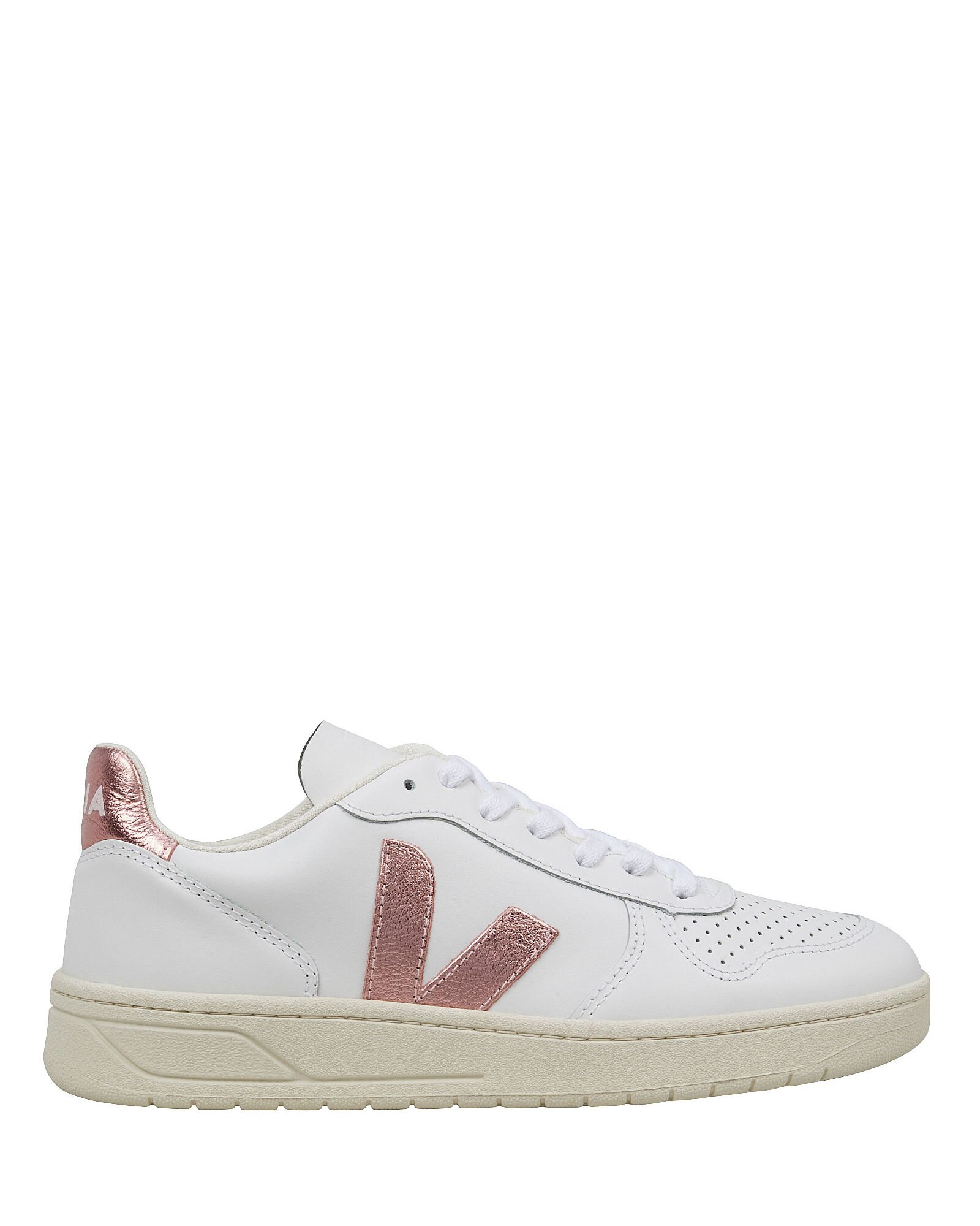 V-10 Low Top Sneakers, WHITE, hi-res