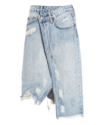 Rap Midi Skirt, DENIM-LT, hi-res