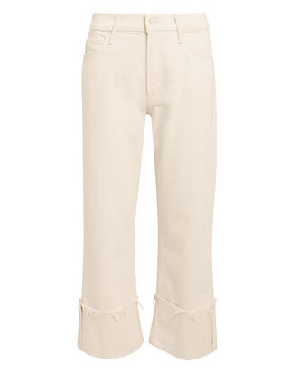 Act Natural Dusty Cuff Fray Jeans, IVORY, hi-res