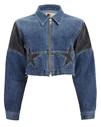 Toni Cropped Denim Jacket, DENIM-DRK, hi-res