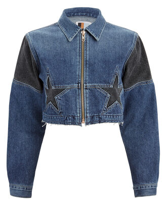 Toni Cropped Denim Jacket, BLUE/BLACK DENIM, hi-res