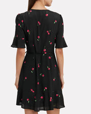 Aimee Cherry Print Dress, BLACK/RED, hi-res