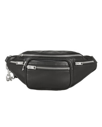 Attica Leather Fanny Pack, BLACK, hi-res