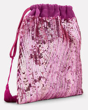 Pink Sequin Pouch Clutch, PINK, hi-res