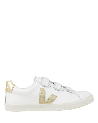 V-Lock Gold Low-Top Sneakers, WHITE/GOLD, hi-res