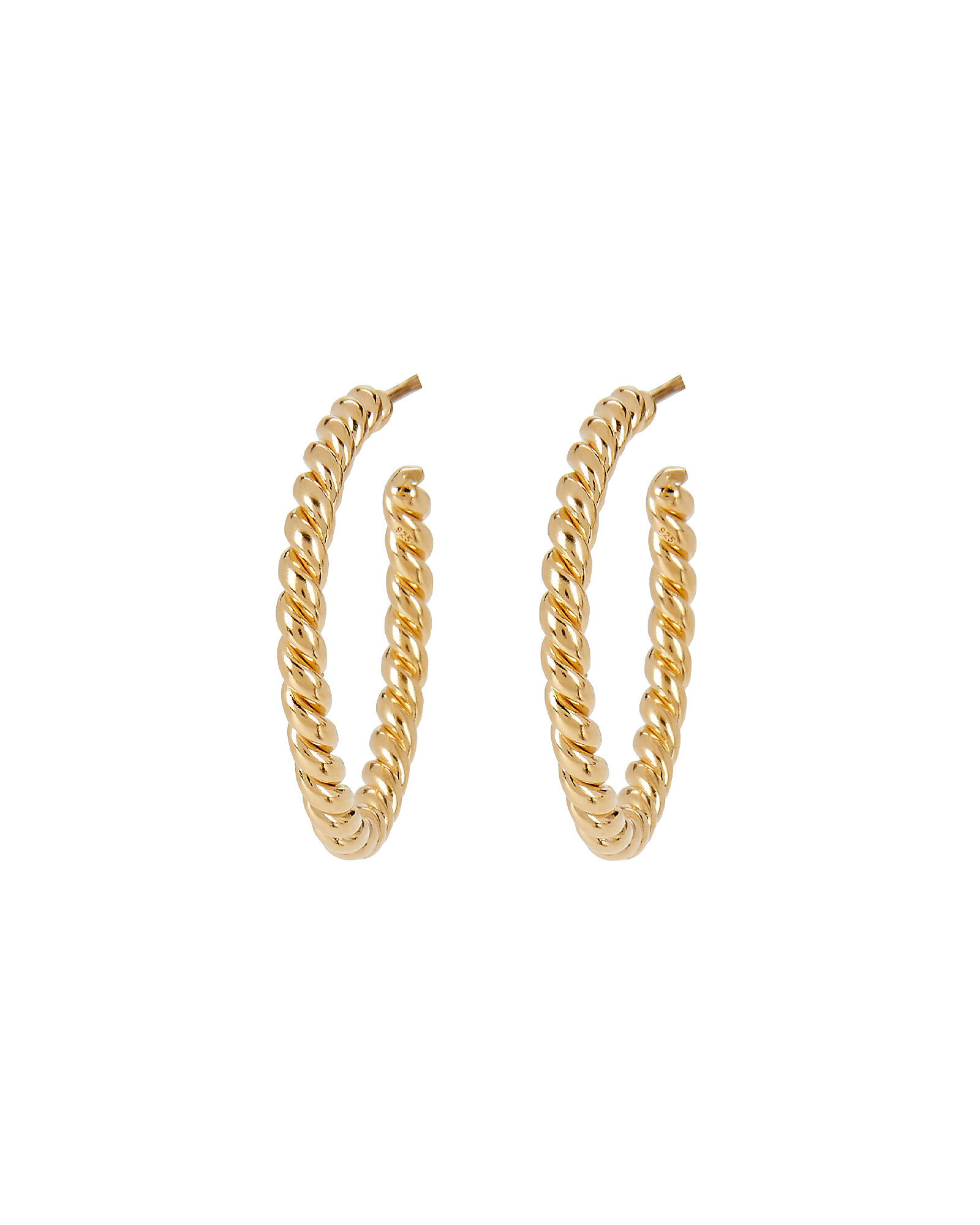 Small Twisted Hoop Earrings, GOLD, hi-res