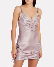 Lace-Trimmed Satin Slip Dress, PURPLE-LT, hi-res