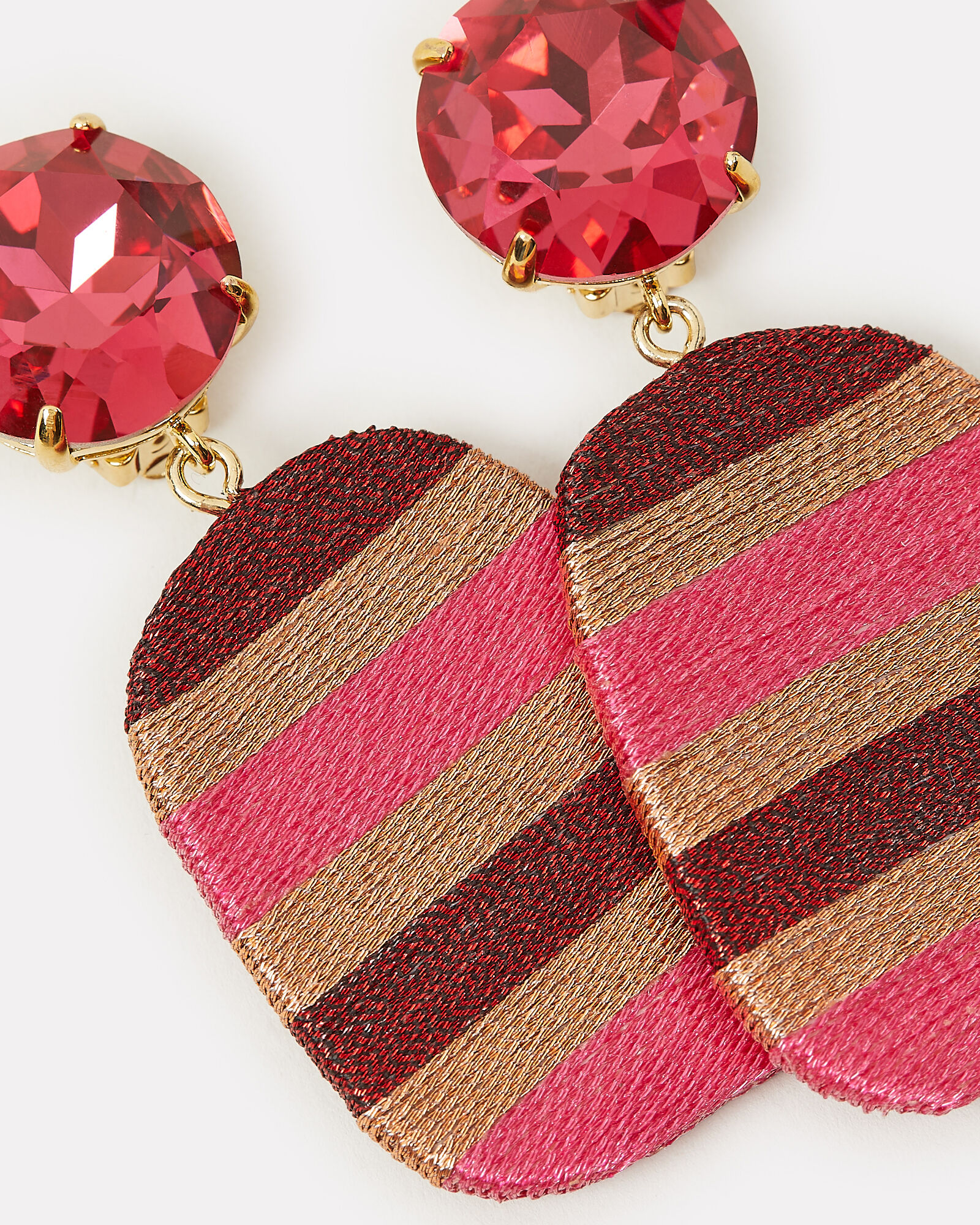 Constanza Square Stripe Earrings, PINK-DRK, hi-res