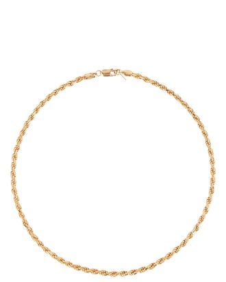 Industrial Rope Chain Necklace, GOLD, hi-res
