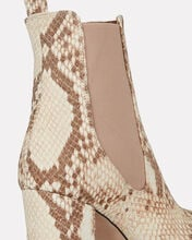 Python-Printed Leather Booties, BEIGE/PYTHON, hi-res