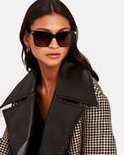 Oversized Rectangular Sunglasses, BLACK, hi-res