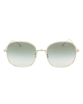 Mehrie Green Gradient Sunglasses, GREEN/GOLD, hi-res