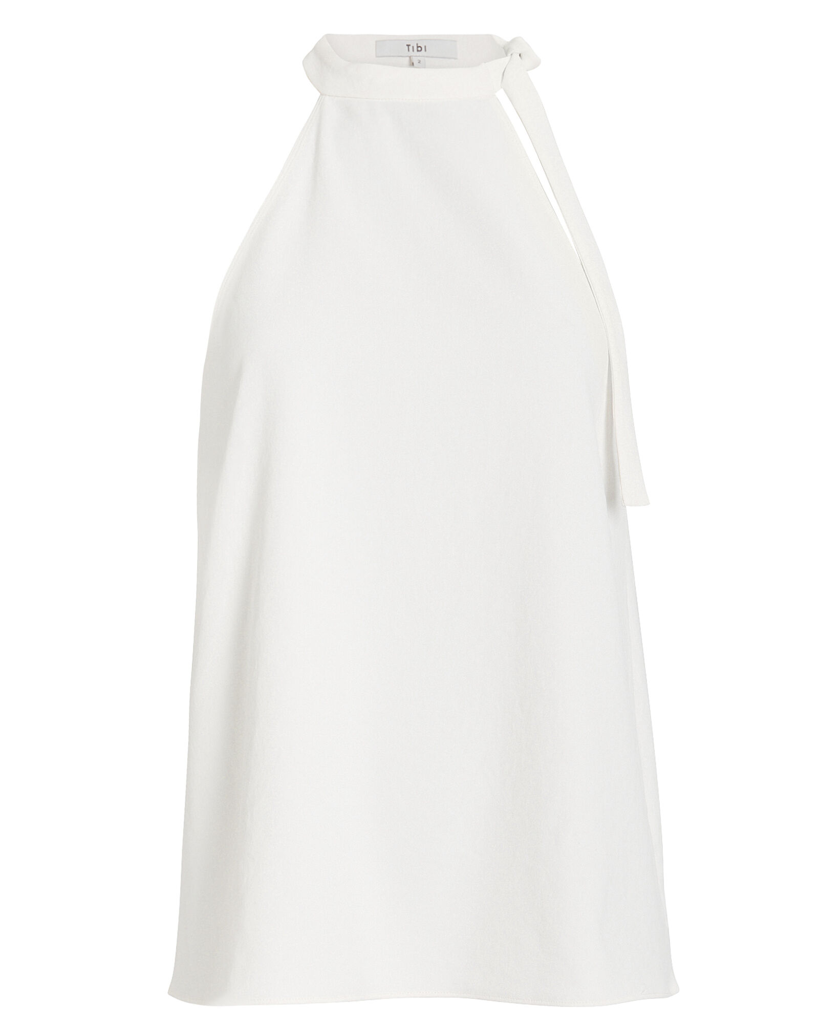 Chalky Draped Tie Neck Top, IVORY, hi-res