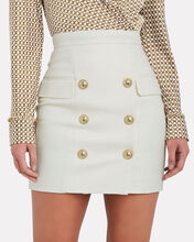 High-Waist Grain De Poudre Mini Skirt, WHITE, hi-res