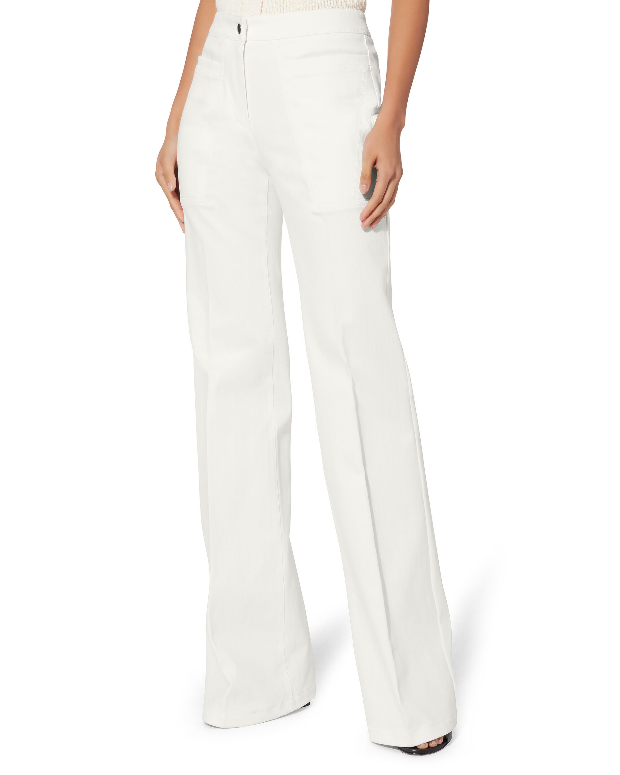 Charlotte High Waist Flare Jeans, WHITE, hi-res
