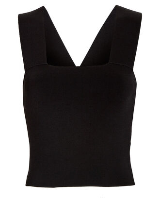 Lia Cropped Tank Top, BLACK, hi-res