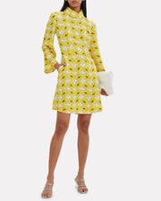 Mynte Yellow Floral Dress, YELLOW/IVORY, hi-res