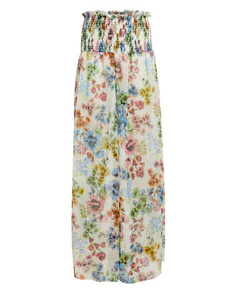 Christa Floral Sheer Pants, WHITE FLORAL, hi-res