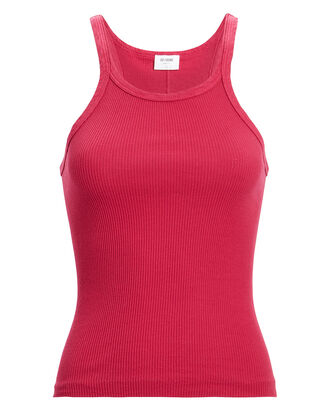 Ribbed Cotton Tank, PINK-DRK, hi-res