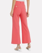 Bob Cropped Flare Trousers, PINK, hi-res
