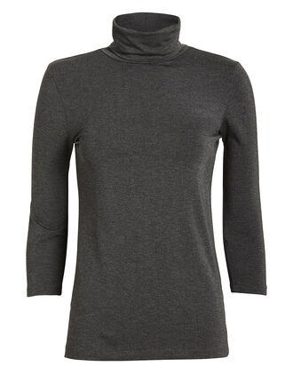 Aja Stretch Jersey Turtleneck Top, HEATHER GREY, hi-res